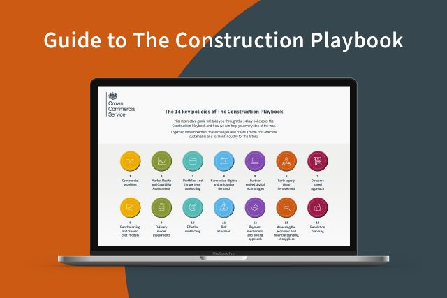 construction playbook guide on laptop