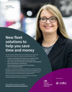 A Heroes brochure with a member of the Fleet team